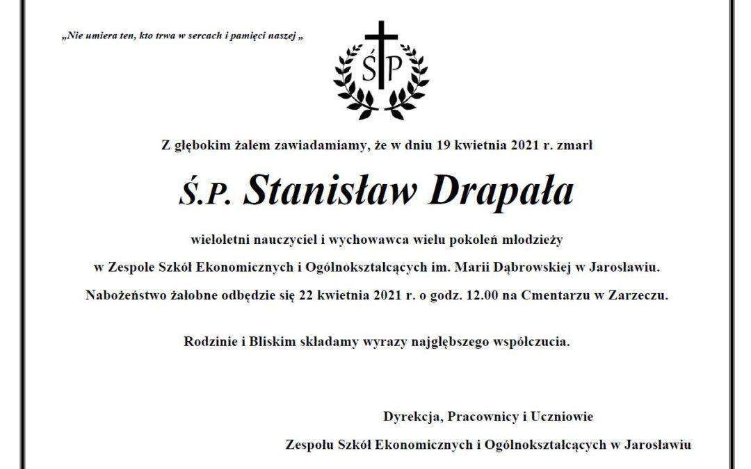 Żegnamy prof. Stanisława Drapałę